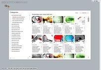 英文分类FLASH网站网页设计模板