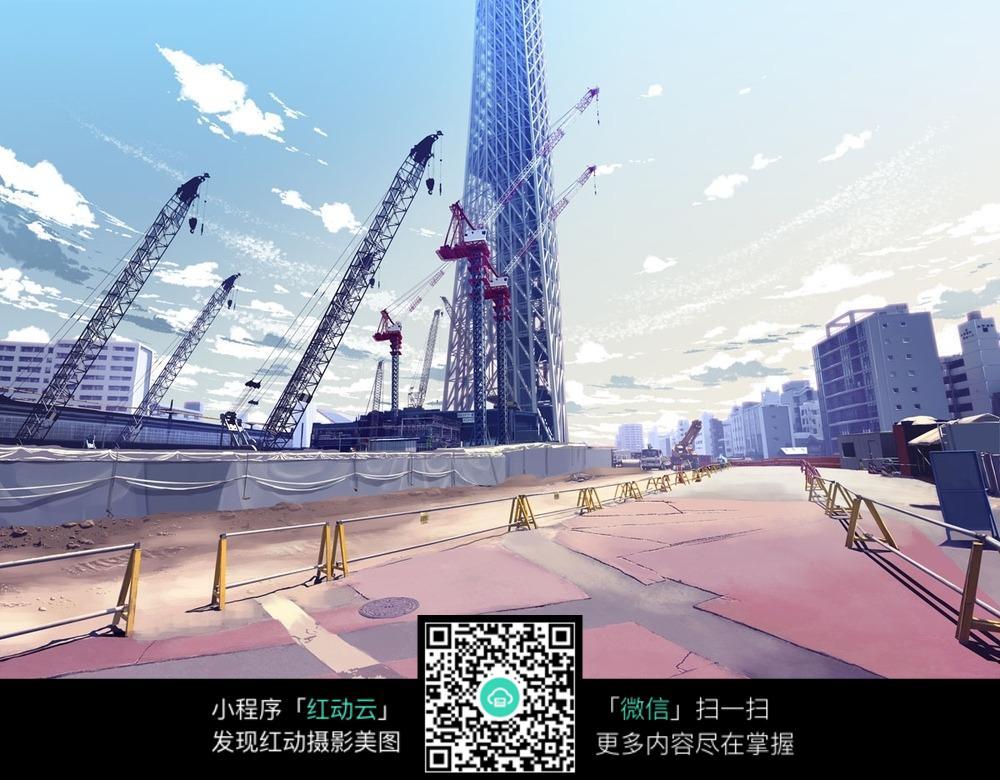 动画中建筑场景