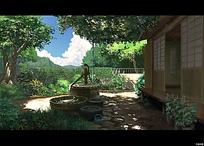 动漫中的院子风光
