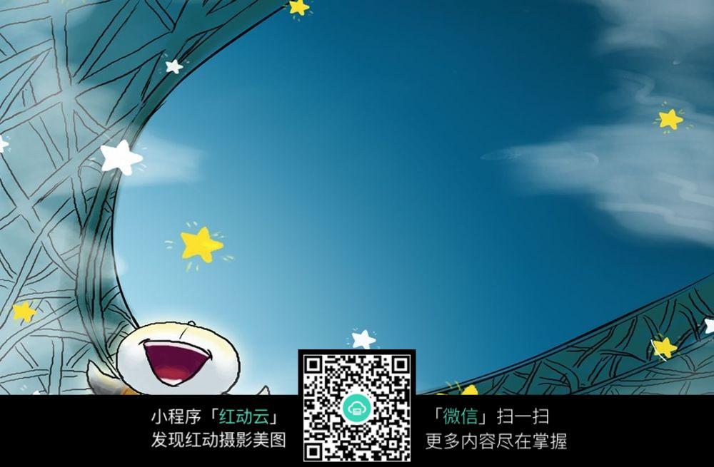 卡通鸟巢背景图