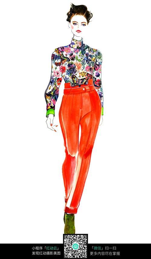 模特服装设计手绘图片免费下载(编号5072350)_红动网