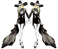 模特走秀服装设计手绘稿