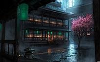 日本建筑的动漫图片