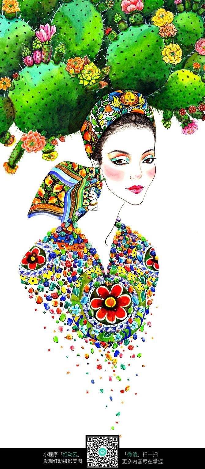 时尚潮流服装手绘图片