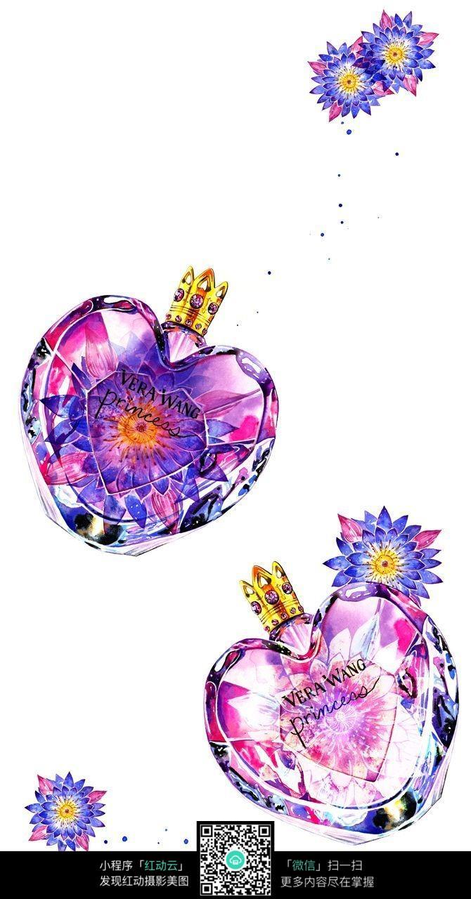 手绘设计香水瓶
