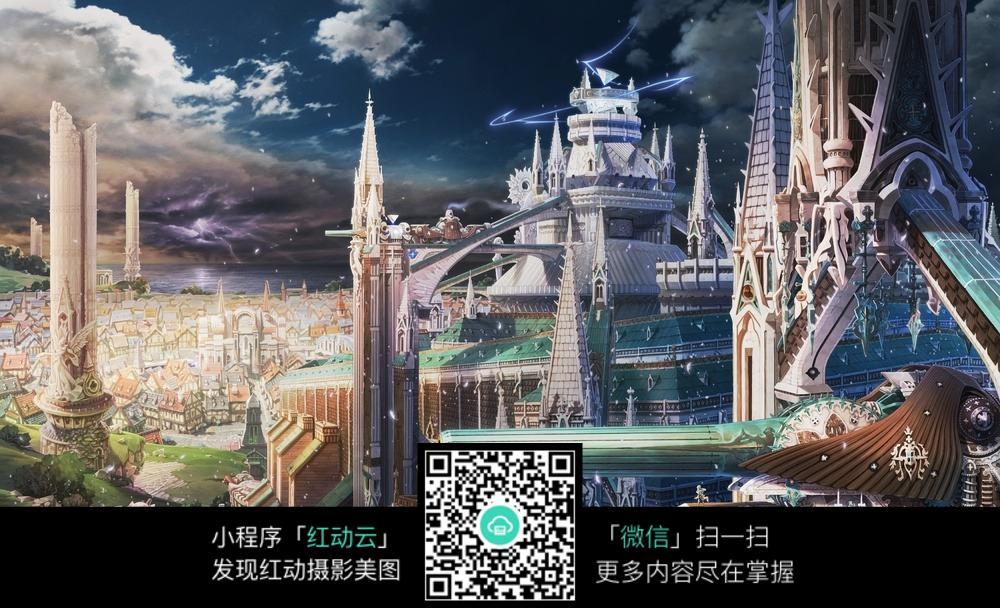 动漫城堡图_唯美动漫城堡图图片免费下载_红动网