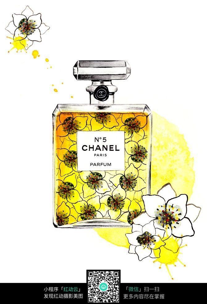 香水瓶手绘设计稿