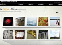英文图片分类网站网页模板