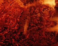 炽热的炭火图片