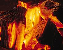 火焰图片燃烧的木头