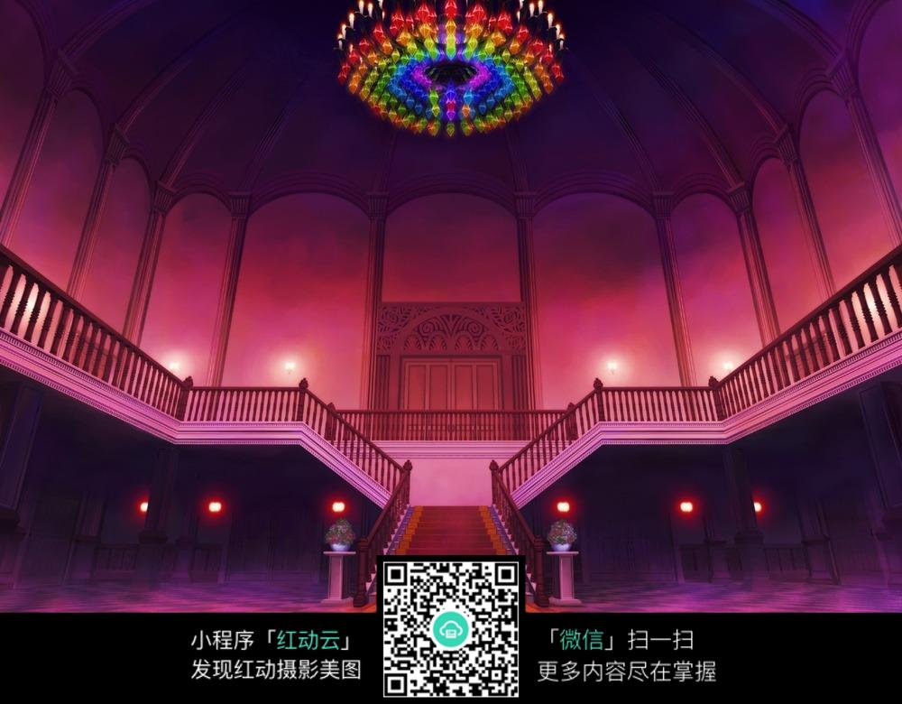 卡通宫殿红毯图