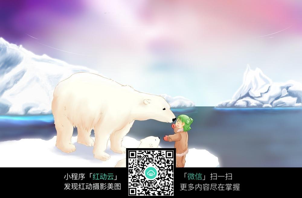 可爱北极熊卡通图