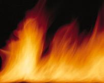 燃烧旺盛的美丽橙色火焰图片