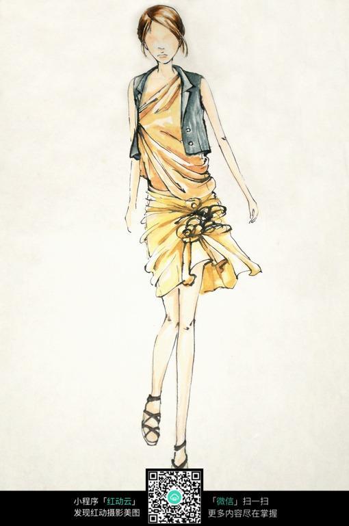 时尚服装设计手绘稿图片