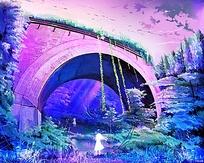 唯美拱桥图