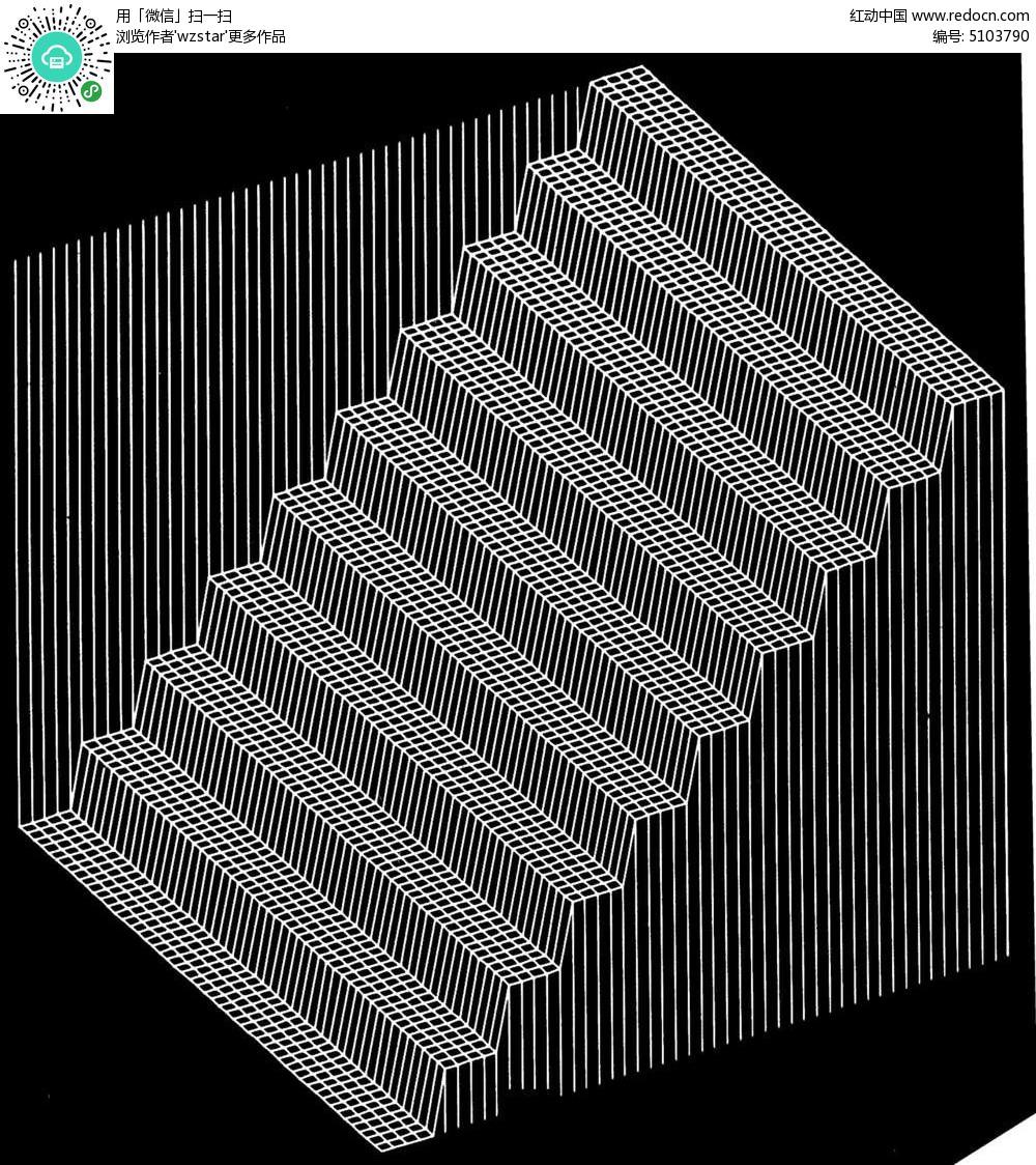 免费素材 psd素材 室内装饰 隔断|雕刻图案 线条楼梯设计  请您分享