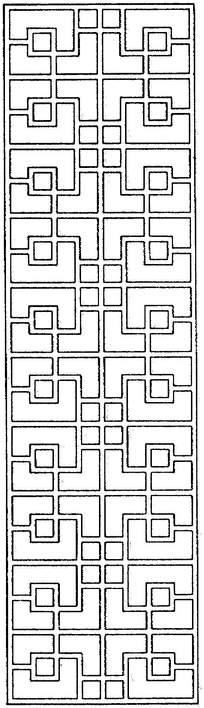 长方形传统镂空花纹素材