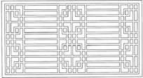 长方形简单镂空花纹