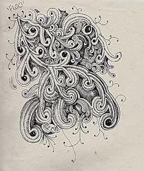 黑白点线面装饰画图片 黑白点线面装饰画设计素材 红动网