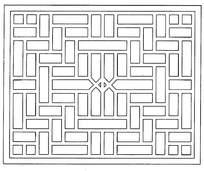 简单镂空雕刻方形图案