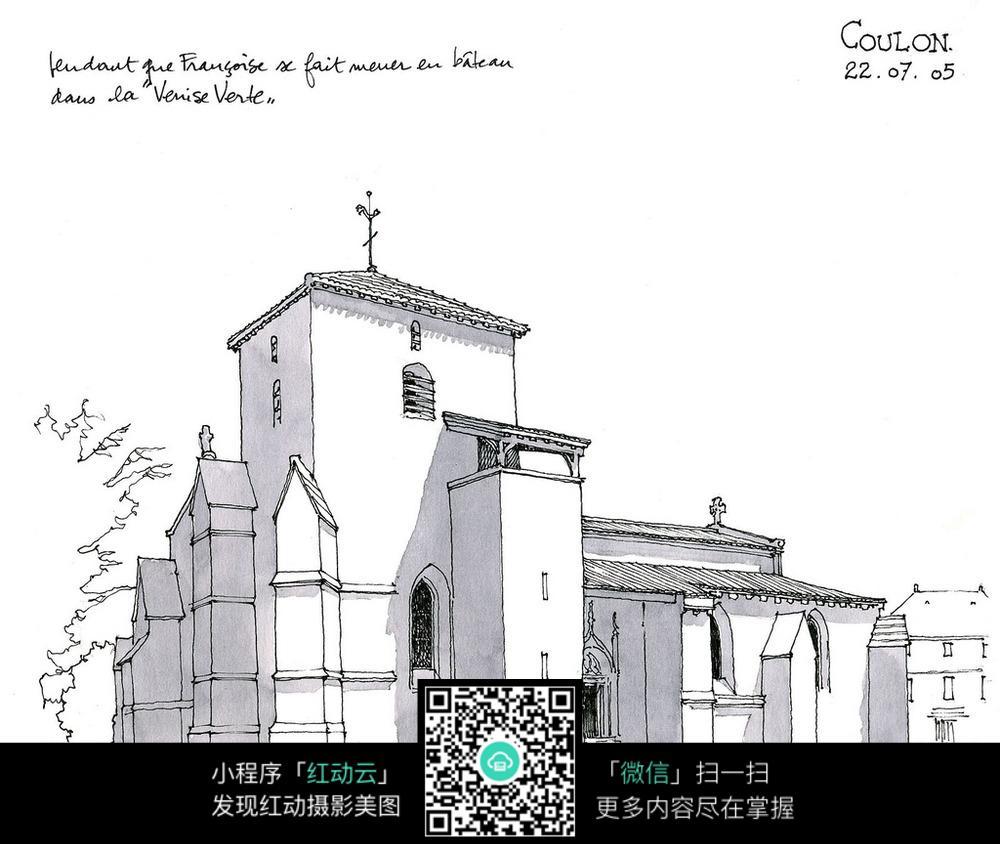 建筑设计手绘图图片免费下载 编号5106404 红动网图片