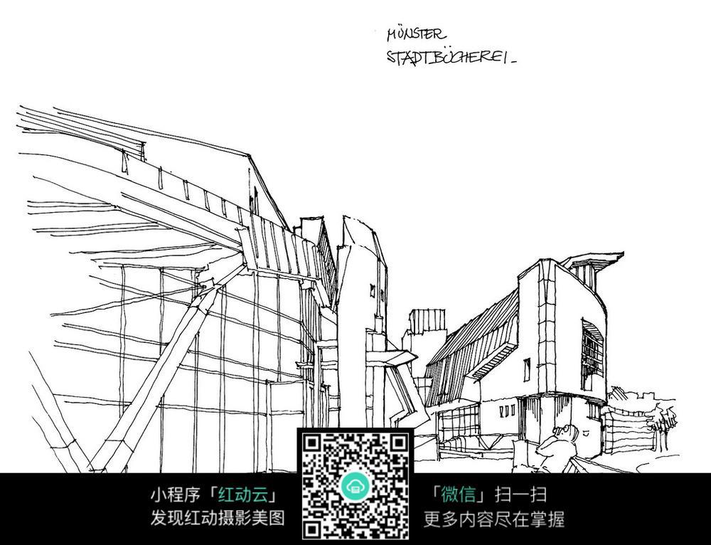 建筑手绘线稿图