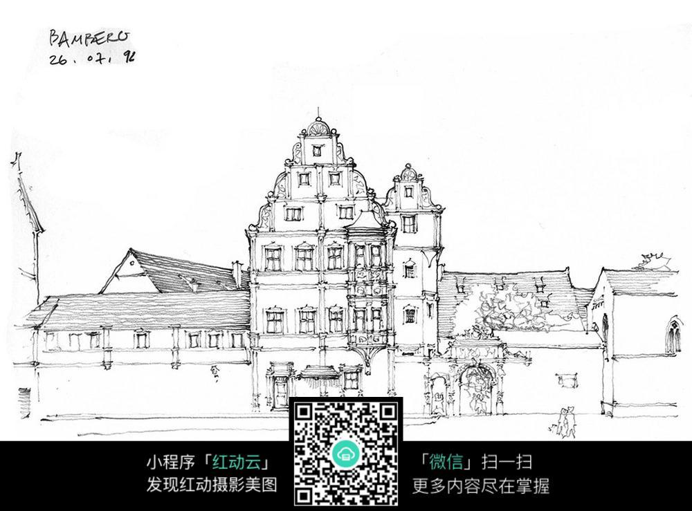幼儿园总平面图手绘黑白