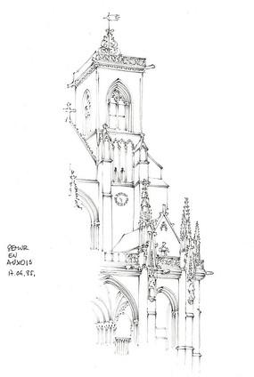教堂精美设计手绘图