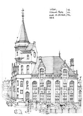欧式建筑设计手绘图