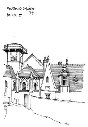 欧式街景手绘图