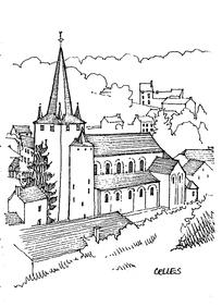 欧式临山建筑手绘线描画图片图片