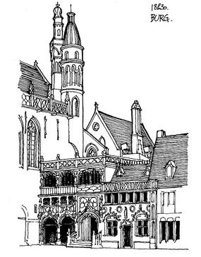 欧洲教堂手绘图