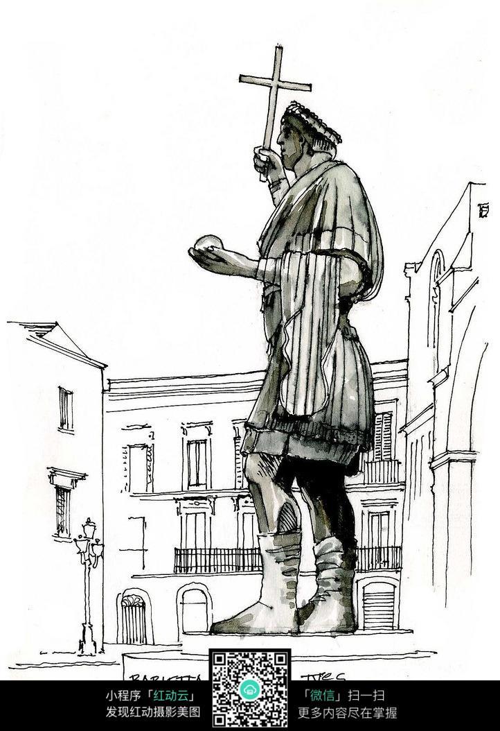 手绘建筑 手绘城市 都市 城市 国外建筑 建筑速写 手绘 风景 建筑设计