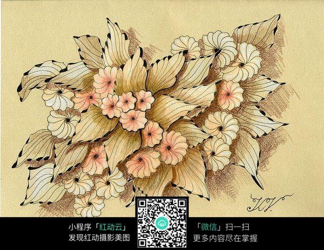 漂亮花朵手绘图
