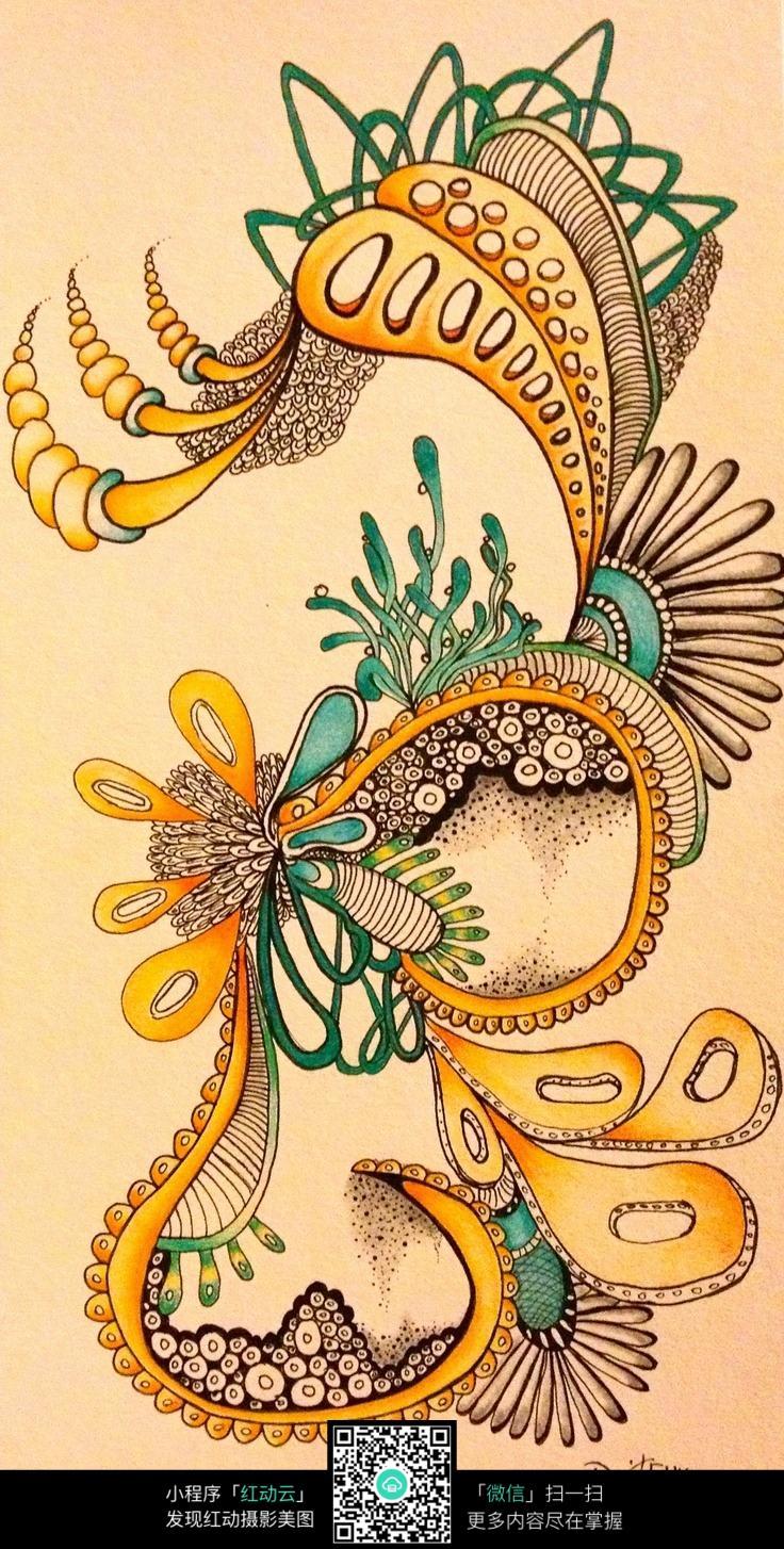 色彩美丽的花纹图案图片