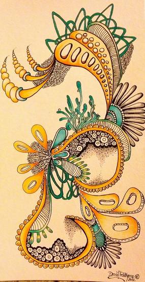 矢量方框中的美丽的花纹图形