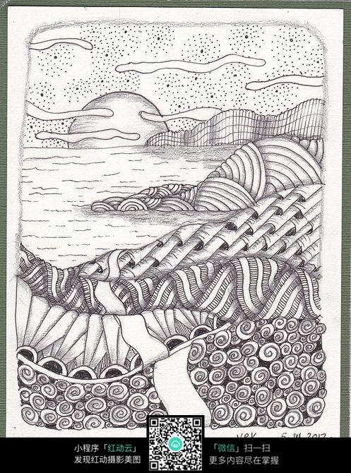 手绘创意工笔画图片