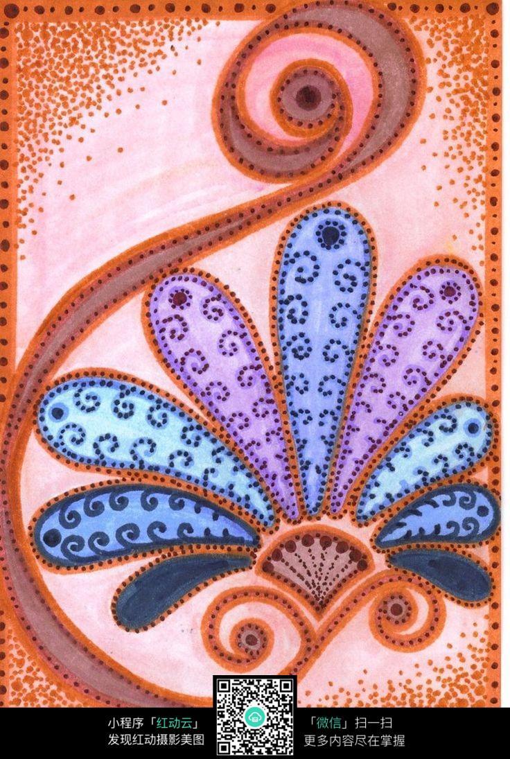 手绘花卉创意设计图