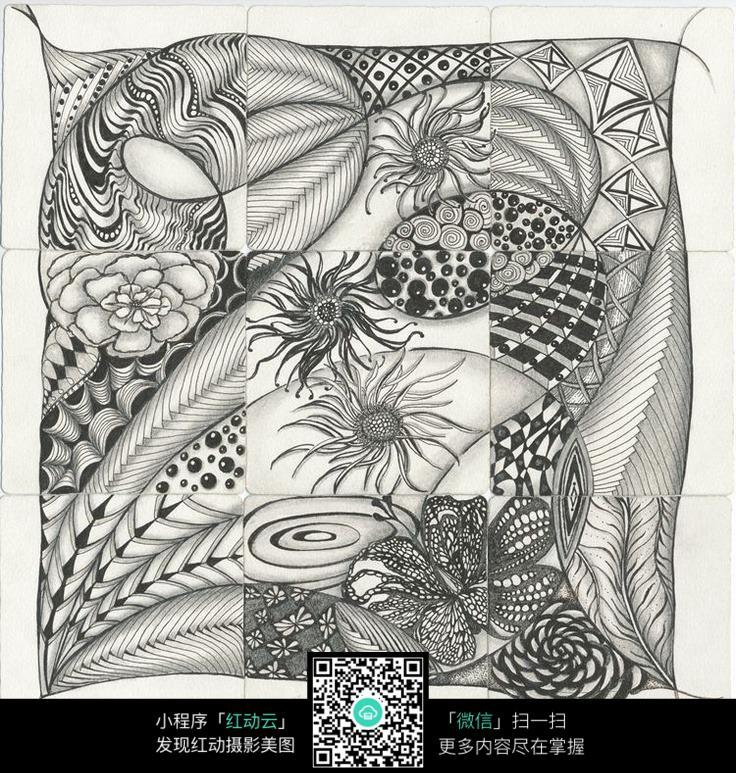线条手绘装饰画