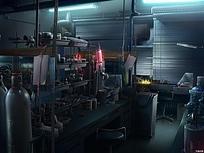 研究室的办公间