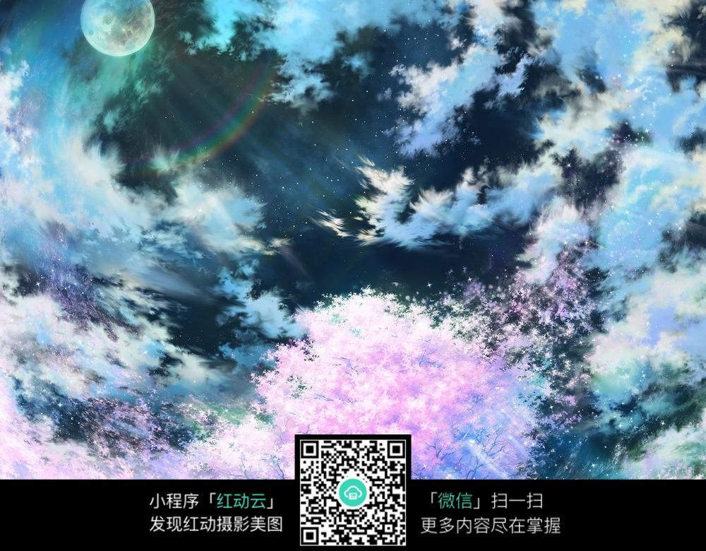 樱花的星空图片免费下载 编号5091002 红动网
