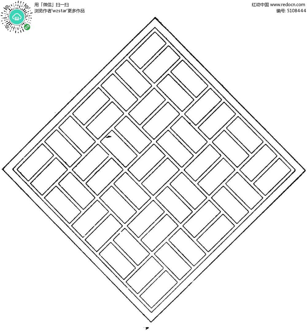 正方形花纹镂空图片