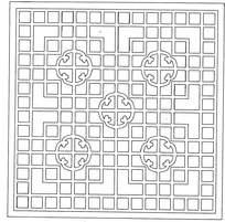 正方形镂空雕刻图