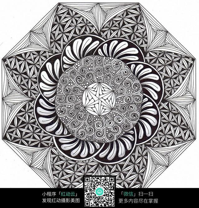 八边形创意手绘设计