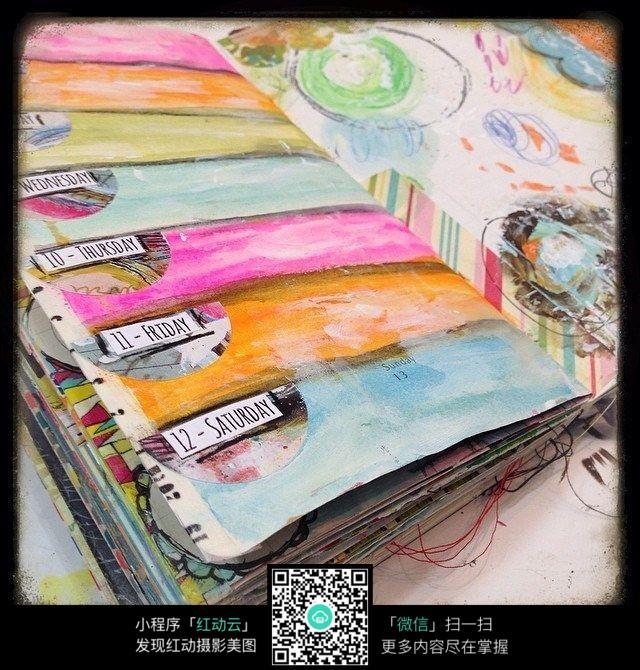 彩色手绘笔记本