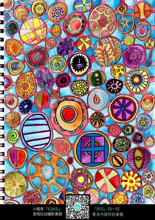 彩色手绘花纹jpg格式图片