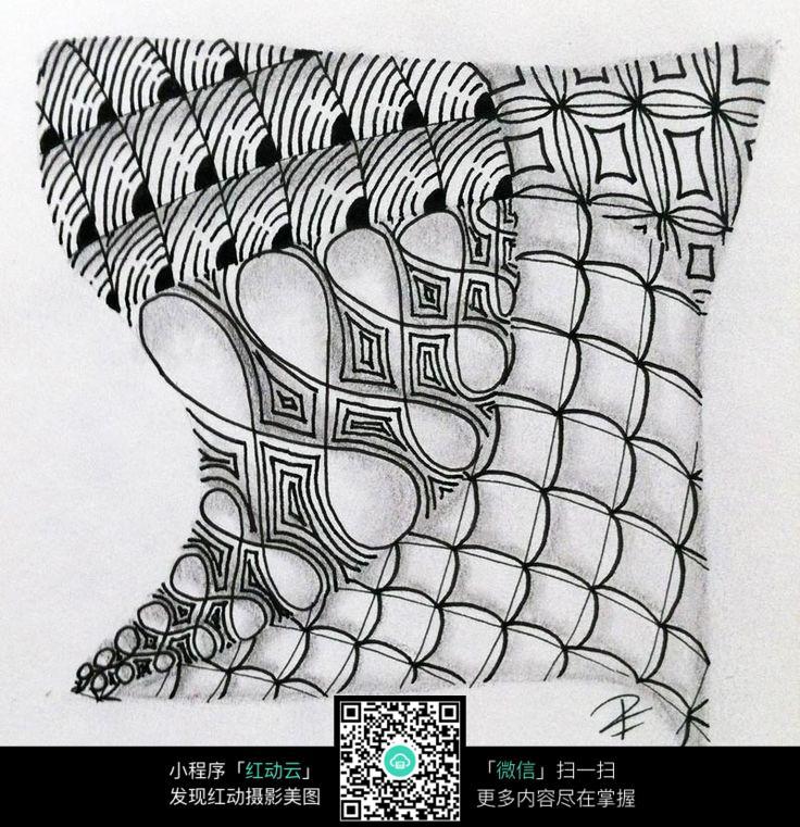 抽象点线面构成图片