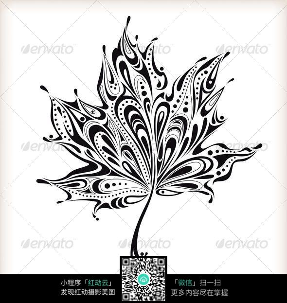 创意枫叶手绘插画设计图片