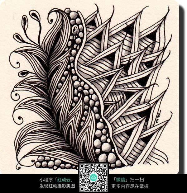 创意花纹排线设计jpg图片素材