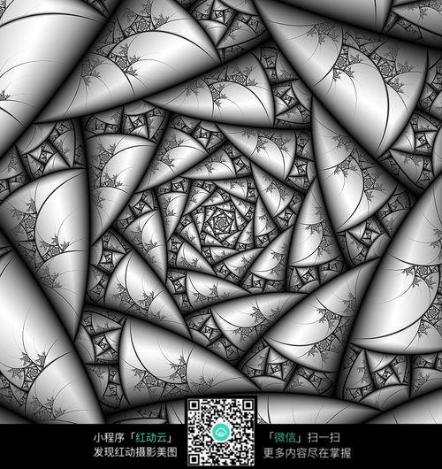 创意立体花纹手绘设计图片